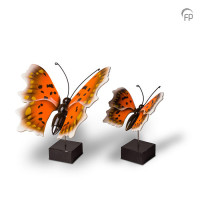 Houten mini-urn vlinder op standaard 2 maten