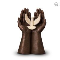 """Keramische urn """"Oneindige vrijheid"""" Geert Kunen"""