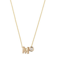Capital, 1 en diamant inclusief collier, 14kt goud, Just Franky