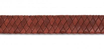 Lederen smalle armband met vierkante open ruimte op sluiting